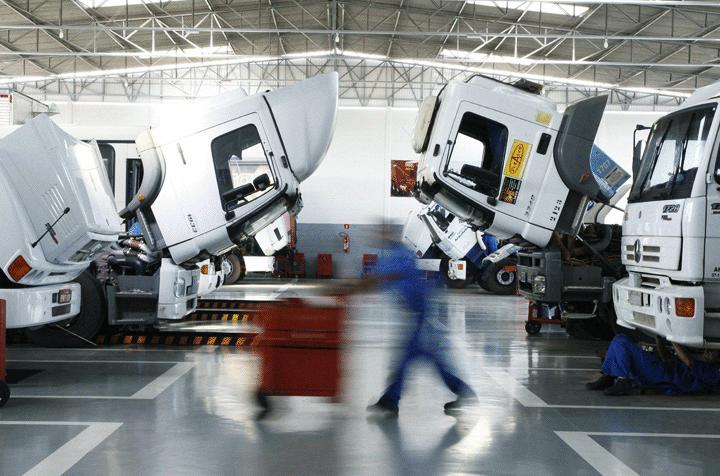 Principais custos mensais com manutenção de caminhões